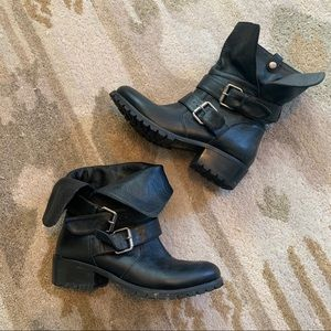 Dolce Vita Fold Over Moto Boots